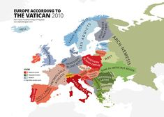 Europe According to The Vatican 2010 31 Maps Mocking National Stereotypes Around the World | Bored Panda
