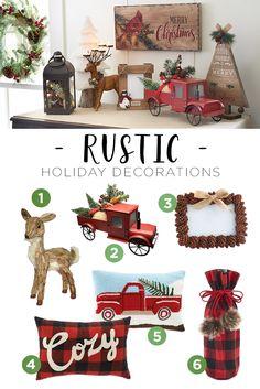 """Estos son ejemplos de como hacer tu Navidad al estilo """"Rustico"""" Mira los ejemplos y trata de hacer tus propios ornamentos rusticos que son los mas bonitos y faciles de hacer. Ademas conservas el Medioambiente. Ideas por M. Melara"""