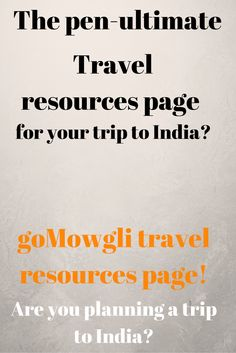 So you are planning your trip to India?  What if we say that you could get all resources at a single point?(on which you will spend countless hours of googling) Yes, we folks at goMowgli has spent hundreds of man hours in curating all the information you need from Visa permits, travel insurance, things to carry, safety of travellers, transit models, festivals and foods in various parts of India in our travel resources page. Give it a try!