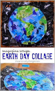 Magazine scraps Earth Day collage.