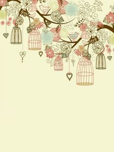 vintage desktop wallpaper designs | Wallpapers for cellphone Birdcage