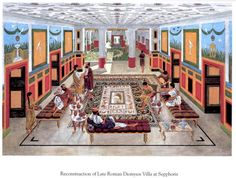Reconstruction of the Late Roman Dionysos Villa of Sephoris.