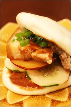 Reminds me of Chairman Bao's Food Truck and it was delicious! Steamed Pork Belly Buns!