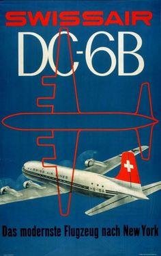 I love this Swissair vintage airline poster Vintage Advertisements, Vintage Ads, Fürstentum Liechtenstein, Travel And Tourism, Air Travel, Airline Travel, Retro Wedding Gifts, Retro Gifts, Vintage Gifts