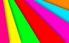 Download wallpapers 4k, rainbow, material design, colorful lines, creative, geometry, colorful background