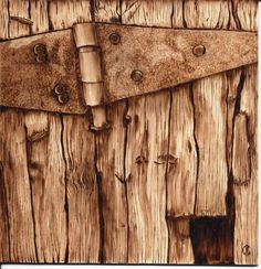 Joanne Carroll a very realistic burning on wood