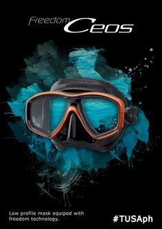 Experienced diver? Choosy on your gear? Realised that the mask is all important? Check out TUSA Ceos low profile mask available in standard lens or CrystalView optical glass lenses treated with a proprietary anti-reflective (A/R) and ultraviolet (U/V) coating...