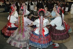 Hello all, This is a photo of my friend Jennifer in her Sárköz costume. The region of Sárköz [pronounced sharkeuse] is well known i. Folk Costume, Costumes, The Man Show, Folk Clothing, Linen Apron, Types Of Embroidery, Folk Dance, Geometric Designs, Girls Wear