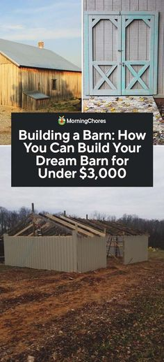 DIY Horse Shelter Plans, Easy Barns Ideas and Horse Stall Images Building A Pole Barn, Building A Shed, Building Ideas, Farm Plans, Shed Plans, House Plans, Horse Shelter, Horse Barn Plans, Barn Shop