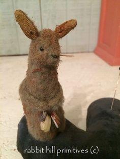 Bunny and Blue Velvet Pincushion Set {$38.00}-