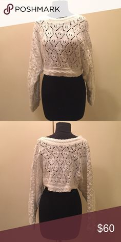 Vintage Cropped Sweater Absolutely adorable! Vintage cropped sweater. 100% cotton. Make an offer. Vintage Sweaters