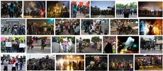 Visual representation of the protests in Ferguson after the killing of Mike Brown by Darren Wilson, by Google image search