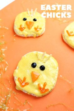 Easy Easter Chick Cookies Recipe - The Cutest Holiday Treat Favorite Sugar Cookie Recipe, Sugar Cookies Recipe, Cookie Recipes, Holiday Cookies, Holiday Treats, Easter Dinner Recipes, Brunch, Food Crafts, Easter Chick
