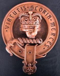 Clan Robertson Crest Wood Finish Resin Wall Plaque
