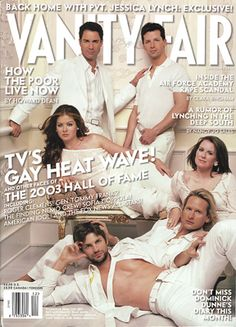 The cast of Will & Grace with Carson Kressley & Gale Harold in December '03