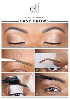 Put those tweezers down Elfette, because the brow police is HERE. If your brows are pencil thin, it's time to whip them back into shap. Makeup 101, Elf Makeup, Love Makeup, Beauty Makeup, Hair Beauty, Eyebrow Game, Eyebrow Makeup, Brow Stencils, Elf Products