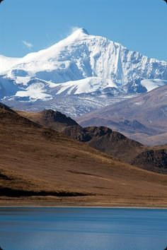 Kamba-La Pass, Mountains, Snow, Lake, Tibet Autonomous Region, China