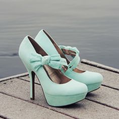 Ancient Lake Mint Heels, Sweet Lace Party & Wedding Shoes from Spool 72