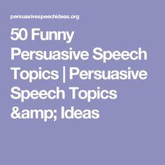 light hearted speech topics
