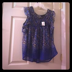Jessica Simpson Sheer Top Size 1x NWT Jessica Simpson Sheer Blue Top. Size 1X. Sleeveless. Never Worn. New with Tags. Jessica Simpson Tops