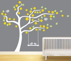 Home decor for nursery room Tree wall decal by jijibiji on Etsy, $77.00
