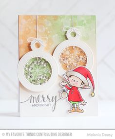 Santa's Elves, Snowflake Flurry, Santa's Elves Die-namics, Tag Builder Blueprints 4 Die-namics - Melania Deasy  #mftstamps