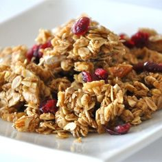 "Megan's Granola I ""Super yummy-- I just finished making it and am already planning what to add next time. I used cranberries but I think dried apples and raisins would be tasty."""
