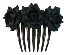 glitter black rose hair comb - Google Search