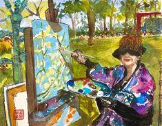 Emmeline Liu Painting, Outdoor, Art, Outdoors, Art Background, Painting Art, Kunst, Paintings, Outdoor Games