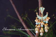 Aquamarine Fancy Earrings, Statement Earrings, Fashion Accessories, Fashion Jewelry, Neck Piece, Festival Fashion, Bangles, Classy, Brooch