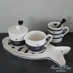 Suiker & Melk set | Zwart/Wit | Bastion Collections