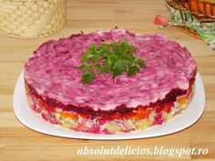 This Shuba salad, also known as Russian herring under a fur coat salad or dressed herring, is a layered fish salad, very popular in Russia, Ukraine and other countries of the former USSR. Yogurt Salad Dressings, Cooking Time, Cooking Recipes, Fish Salad, Food For Thought, Cravings, Food Porn, Good Food, Food And Drink