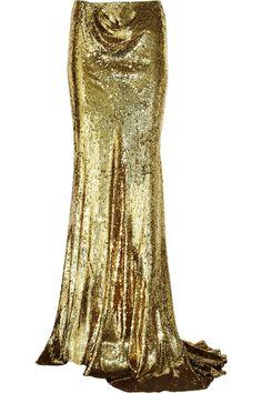 sequined-silk maxi skirt balmain the outnet