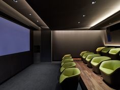 Office Tour: Havas – New York City Advertising Offices Havas New York City Advertising Offices room theatre Home Cinema Room, At Home Movie Theater, Home Theater Design, Office Interior Design, Office Interiors, Interior Design Inspiration, Theatre, Office Movie, New York City