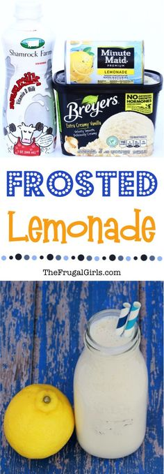 Frosted Lemonade Recipe Chick Fil A Copycat! If you can't get to Chickfila to have your favorite summer drink, making a copycat version at home is the next best thing! This yummy milkshake is the perfect way to cool off on a hot day! Just 3 ingredients!! | TheFrugalGirls.com