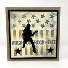 Stars & Stripes | Visible Image - rock out - music stamps - created by Nicky Gilburt