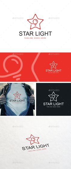 Star Light Logo Template - Logo Templates Source by veerlekn logo Letterhead Template, Brochure Template, Logo Templates, Flyer Template, Star Template, Simple Website Design, Graph Design, Star Logo, Symbol Design