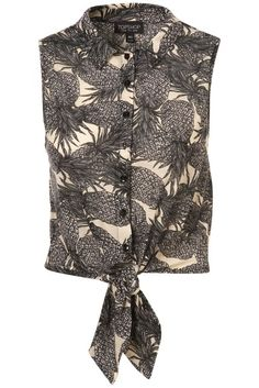 Cropped pineapple shirt from Topshop