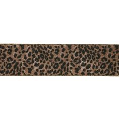 "Leopard Gold and Black Wired Craft Ribbon 2.5"" x 10 Yards -- For more information, visit image link."