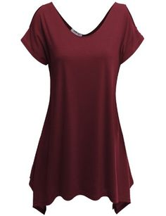 Doublju Womens Short Sleeve T-shirt with Unique Hem Line - Listing price: $28.59 Now: $16.99