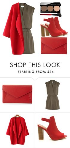 """18/09/16"" by ivanainna on Polyvore featuring Neiman Marcus, Reiss, Smashbox, simple, red, fallfashion and Fall2016"