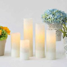 Flameless Candles for decorating