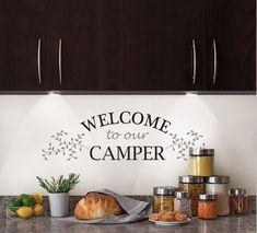 Welcome to Our camper Removable Wall Decor #camperdesign