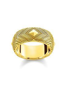Yellow Gold Africa Ornament Ring Band/Thomas Sabo