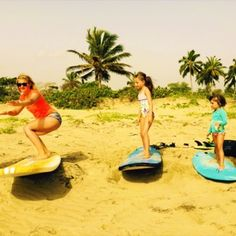 #family #surf today at #cabaretebeach with our friends from #texas http://houseofwaves.com