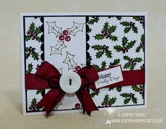 Love the holly stamps!