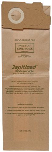 #manythings.online #Janitized biodegradable premium replacement commercial vacuum bags can be used for Karcher/Tornado Models: CW50 and CW100; SSS Prosense II, O...