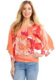 Cato Fashions Smocked Waist Floral Top #CatoFashions