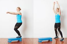 Advanced Cardio and Strength Circuit Workout: Circuit 1: Jumping Jacks to Step