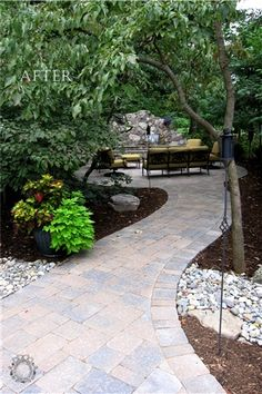 Paver Garden Path to Firepit